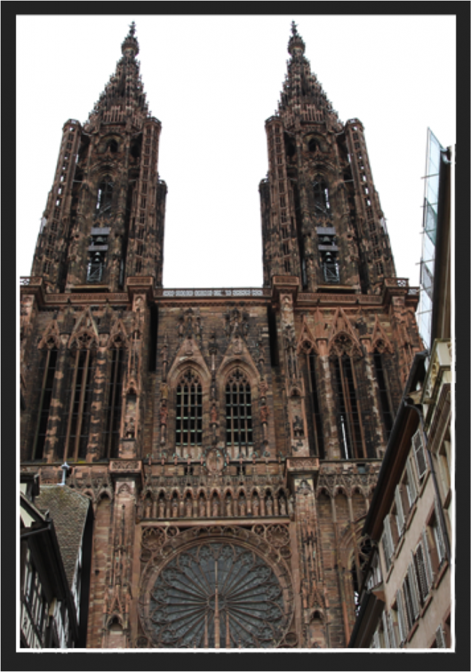 Cathedrale Strasbourg deux tours